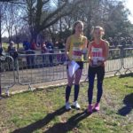 NA Under 17 champion Jessica Cook Liverpool Harriers & AC with silver medal winner Catherine Hooper of Salford Harriers & AC
