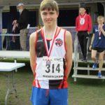 Brandon Quinton Bury AC silver medal winner in Under 15s boys 5k
