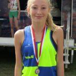 Megan Dingle of Vale Royal 2nd in the Under 15Girls 5ks