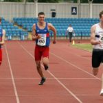 William Hughes (Nene Valley Harriers) 414 wins the under-20s mens 200 metres, Northern Senior and Under-20s Champs., Sports City, Manchester. Photo: David T. Hewitson/Sports for All Pics