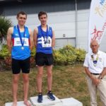 Senior men 800m 1st James Young, 2nd Matt Wigglesworth, with NA President Kevin Carr