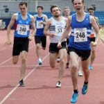 James Young (Morpeth Harriers)) wins the senior mens 800 metres, Northern Senior and Under-20s Champs., Sports City, Manchester. Photo: David T. Hewitson/Sports for All Pics