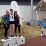 Under 20s women high jump, 1st Abby Ward, 2nd Charlotte Kerr, 3rd Lily Hosfield