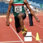 Emmanuel Odubanjo (Sale Harriers) wins the under-20s triple jump, Northern Senior and Under-20s Champs., Sports City, Manchester. Photo: David T. Hewitson/Sports for All Pics