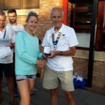 Danielle Hodginson NA 5k road running champion 2018 with Kevin Carr