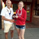 Georgia Campbell bronze medal winner with Kevin Carr