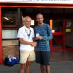 Dominic Shaw NA 5k road running champion 2018 with Kevin Carr