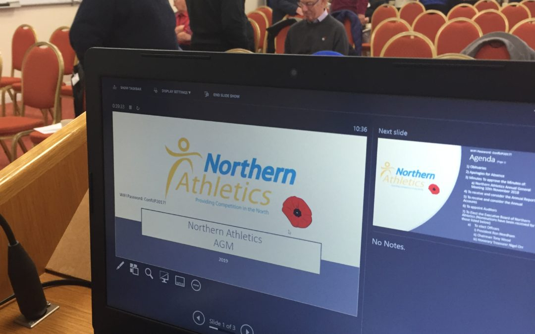 Northern Athletics AGM Saturday 9th November 2019
