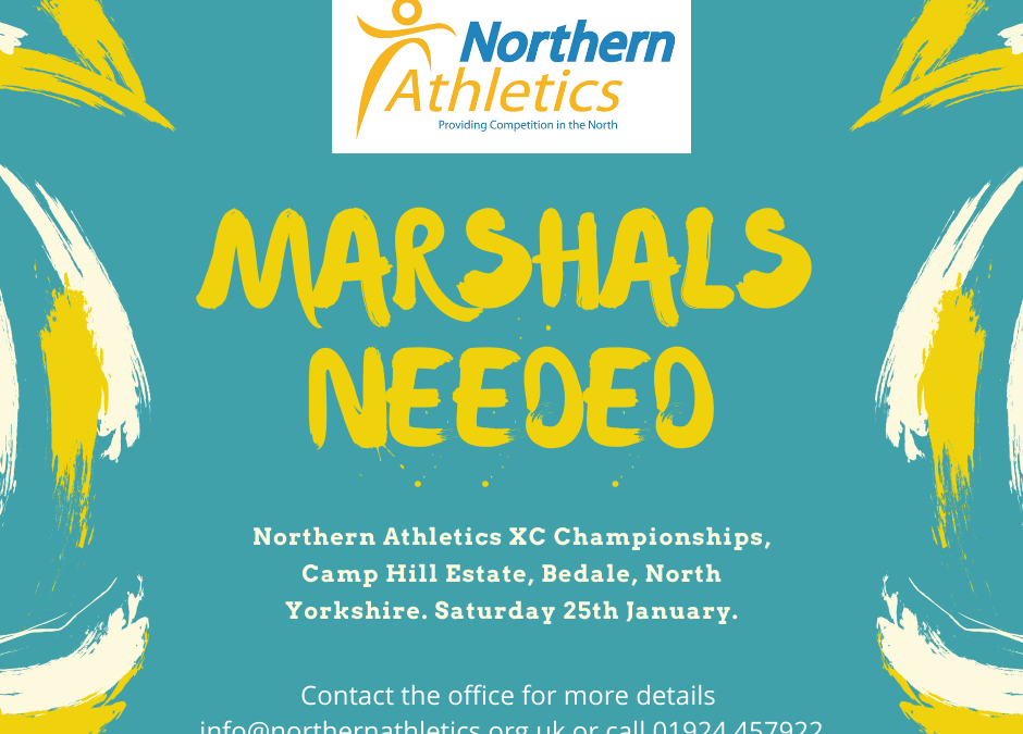 **Marshals Required** 25th January 2020